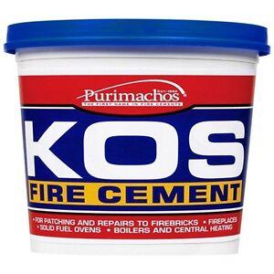 Everbuild KOS Brick Fire Furnace Stove Cement Buff Heat Resistant - 25KG