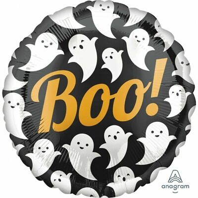 HALLOWEEN FOIL BALLOON BOO! GHOSTS PARTY DECORATION BOO GHOST BLACK GOLD WHITE (Balloon Ghosts Halloween)