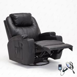 NEW HEATED 10 IN 1 MASSAGE CHAIR RECLINER CHAIR AIR LEATHER SOFA FURNITURE