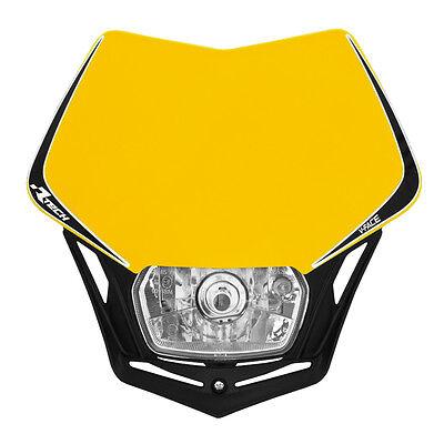 MASCHERINA PORTAFARO RACETECH V-FACE GIALLA (Yellow Headlight) - R-MASKGINR008 usato  Milano