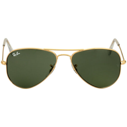 488c61273d6ba Ray-Ban Aviator Small Metal Frame Green Lens Unisex Sunglasses RB3044