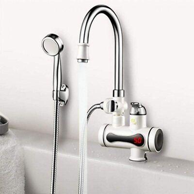 Grifo Eléctrico Calentador Instantáneo Agua Cálida Ducha Cocina Baño