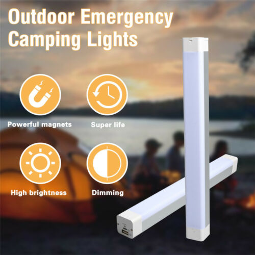 Rechargeable LED Work Camp Lamp Magnetic Emergency Flashlight 4000mAh Power Bank