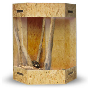 Eckterrarium Eck Terrarium OSB 180x100x100 cm Seitenbelüftung Holz