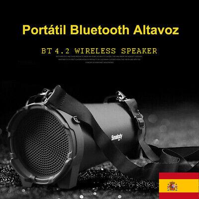 Altavoz portátil inalámbrico Bluetooth de Subwoofer Estéreo con micrófono(Negro)