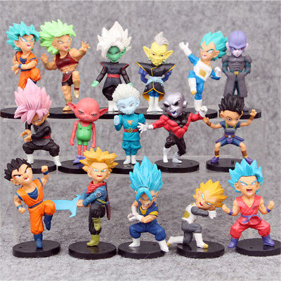 Dragon Ball Z Son Goku Vegeta 16 Pcs Action Mini Figure Kids Gift Figurine Toys