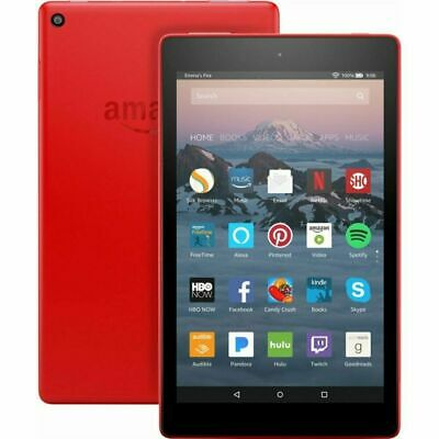 """NEW Amazon Fire HD Kindle 8""""Display, 32GB Tablet With Alexa - Red"""