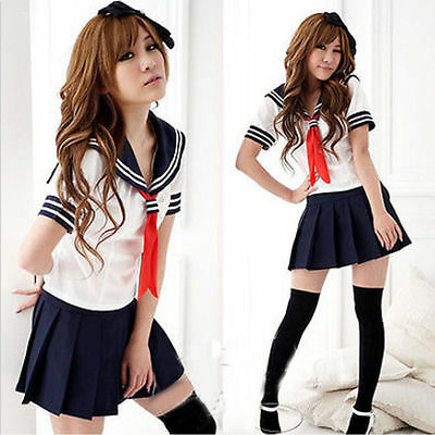 Sailor School Uniform (Japan School Schulmädchen Cosplay Kostüm Girls Sailor Kleid British Schuluniform)