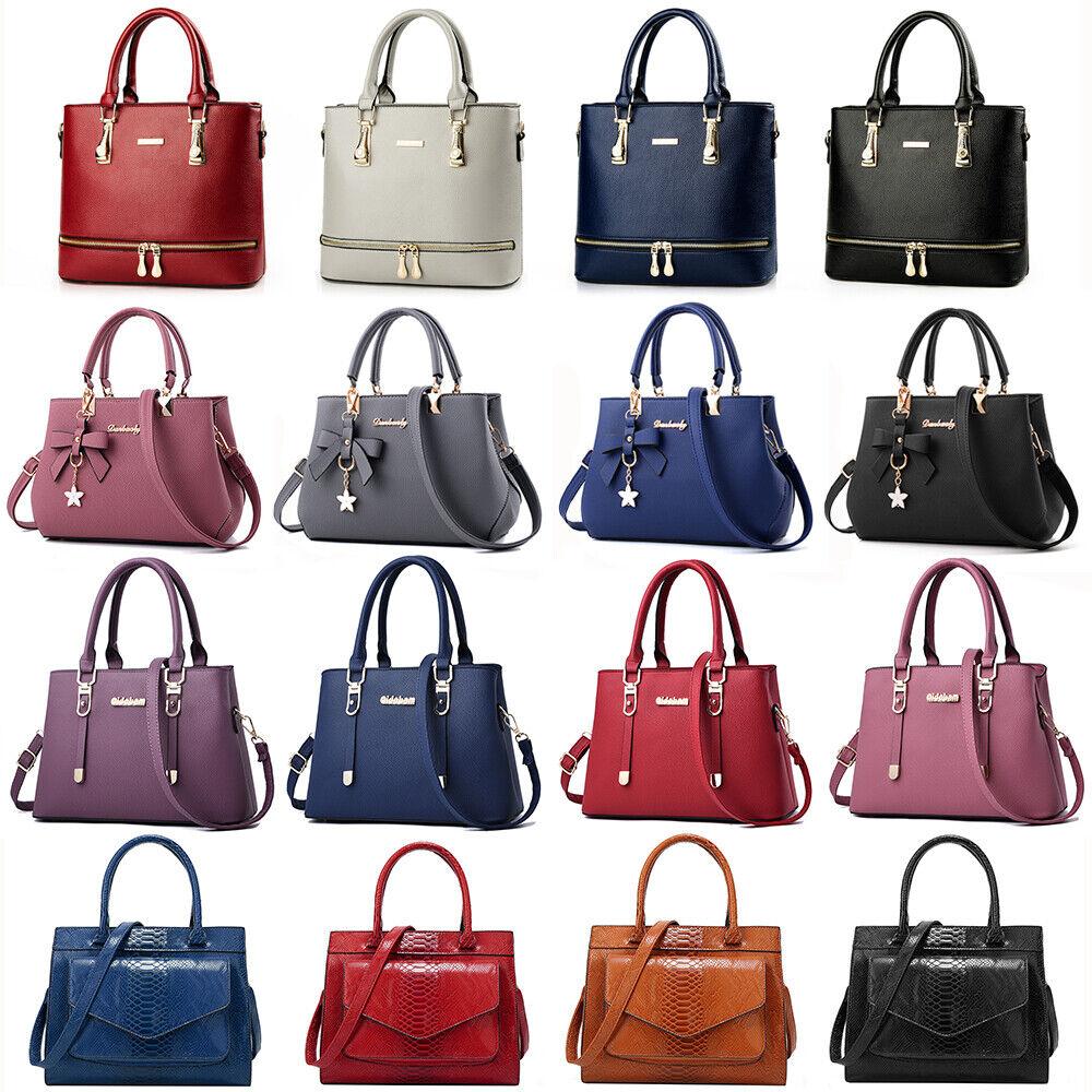 Women Lady Leather Handbag Shoulder Bag Crossbody Satchel Messenger Purse Tote
