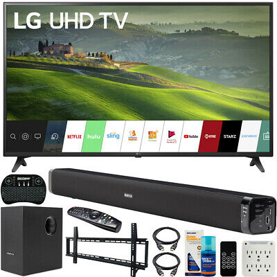LG 60-inch HDR 4K UHD Smart LED TV (2019) Bundle with Deco Soundbar & more