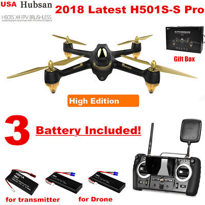 Hubsan H501SS PRO FPV Brushless Drone 5.8G 1080P Follow Me GPS RC Quadcopter RTF