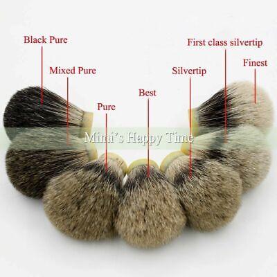 20-30mm Silvertip Best Pure Black Badger Hair Knot Wet Shaver Shaving Brush