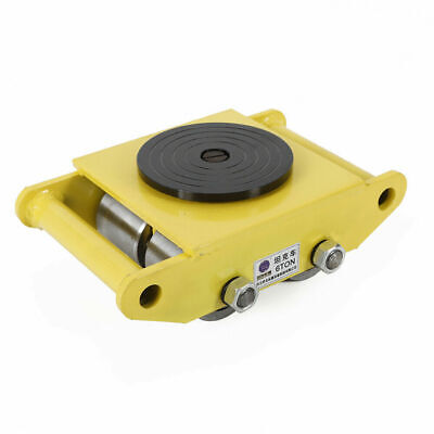 1pc Industrial Machinery Mover 360rotation Cap 13200lbs Dolly Skate4 Rollers