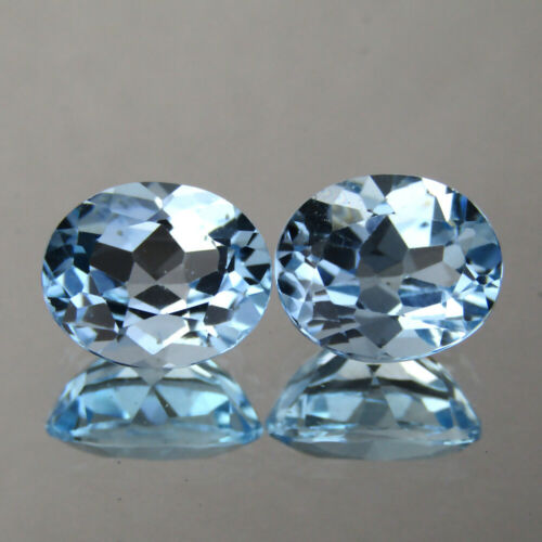 12.70CTS EXCELLENT OVAL SHAPE NATURAL SKY BLUE TOPAZ 12x10 MM PAIR LOOSE GEMS