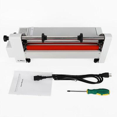 V350 13 350mm Hot Cold Roll Laminator Digital Singledouble-sided Film Heating