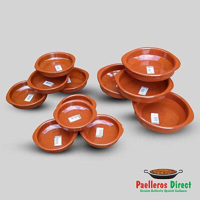 Spanish Terracotta Tapas Dishes / Cazuela Set - 12 Pieces