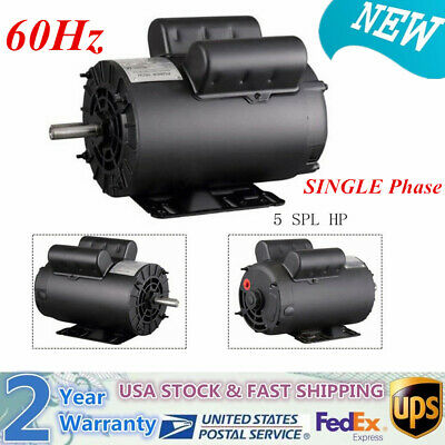 5hp Spl 3450rpm Air Compressor 60 Hz Electric Motor Single Phase-2 Year Warranty