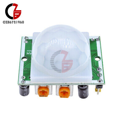 10pcs Adjust Pyroelectric Infrared Ir Pir Motion Sensor Detector Module New