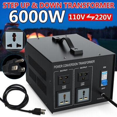 Heavy Duty 6000W Voltage Converter Power Transformer Step Up & Down 220V To 110V