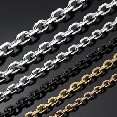 Edelstahl Ankerkette Armband Länge halskette 17-120cm Größe 2,0mm-9,5mm