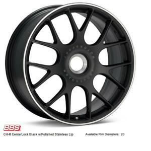 BBS  CH-R CenterLock (Black w Polished Stainless Lip)