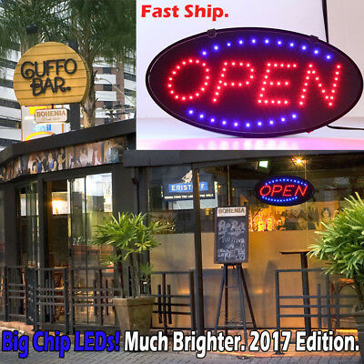 Ultra Bright Led Neon Light Animated Motion With Onoff Open Business Sign Ea1