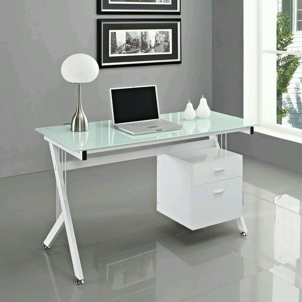 computer office desk glass top pc table brand new lilac pink rh gumtree com office desk glass protector glass office desk ottawa