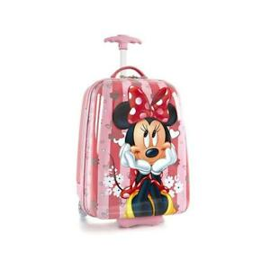 Disney Minnie Mouse Hard Shell Luggage for Kids - 18 Inch Carry-on Suitcase