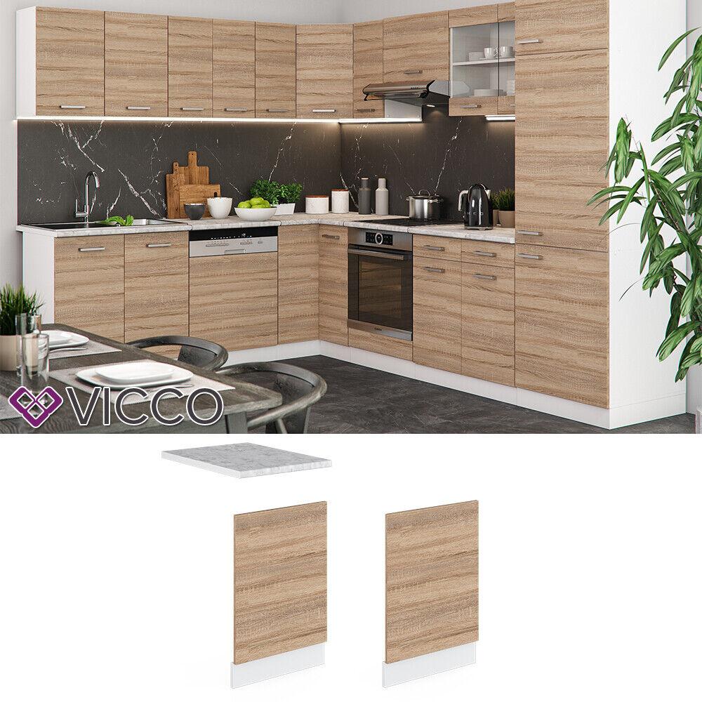 VICCO Küchenschrank Hängeschrank Unterschrank Küchenzeile R-Line Geschirrspülerblende 60 cm sonoma