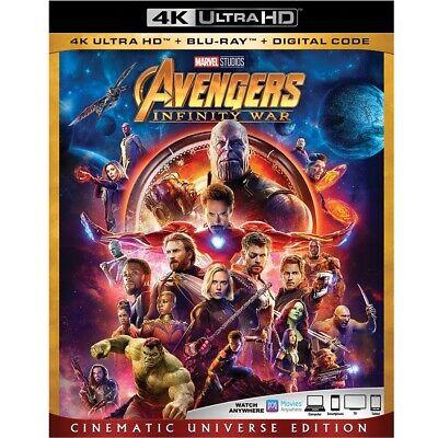 Avengers Infinity War (4K Ultra HD+Blu-ray/Digital HD)Brand-NEW- Marvel Movie