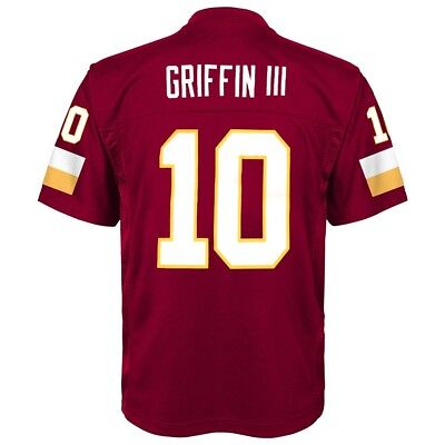 Robert Griffin III NFL Washington Redskins Mid Tier Maroon Jersey Youth (S-XL)