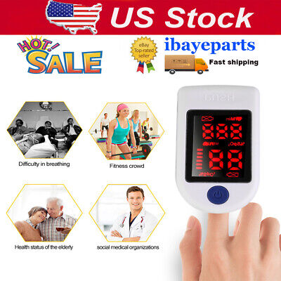 Finger Tip Pulse Oximeter Blood Oxygen Detector Meter Spo2 Monitor Equipment