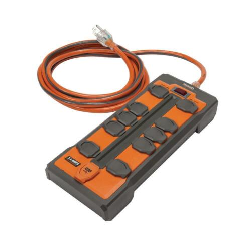 RIDGID 10 OUTLET + 2 USB SURGE PROTECTOR CONTRACTOR GRADE BRAND NEW