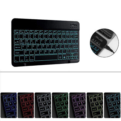 Universal Wireless Keyboard Backlit Slim for Android Windows iOS PC Mac Tablet