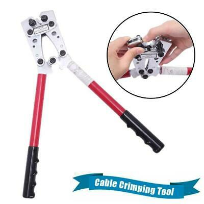 Large Wire Terminal Crimper Cable Lug Crimping Plier Connectors Tool 6-50 Mm