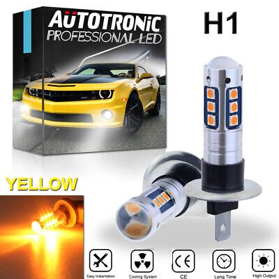 2x H1 15SMD LED Fog Light Bulbs Conversion Kit Super Bright Premium 3000K