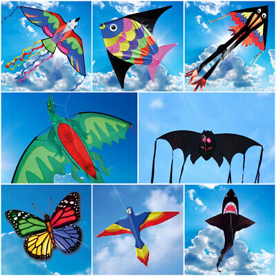 Brookite Fun Kite Single Line Ideal for Children Bird Shark Bat Dragon Fly Toy