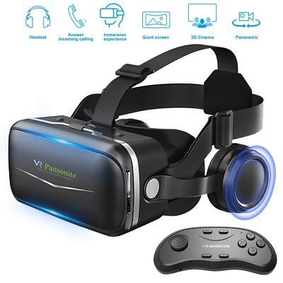 Samsung Galaxy S9 3D Glasses Virtual Reality Headset & Remote Controller New VR