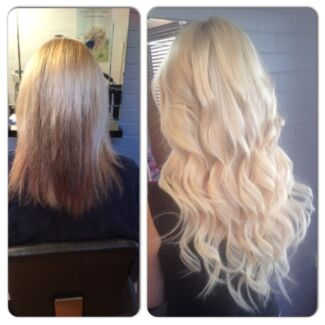 Tape Hair Extensions & Colour Match Package $350 20inch incl cut Clear Island Waters Gold Coast City Preview