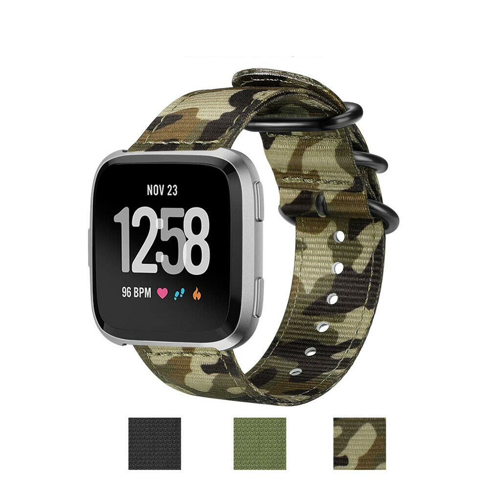 Fintie Double Layer Band for Fitbit Versa Soft Woven Nylon R