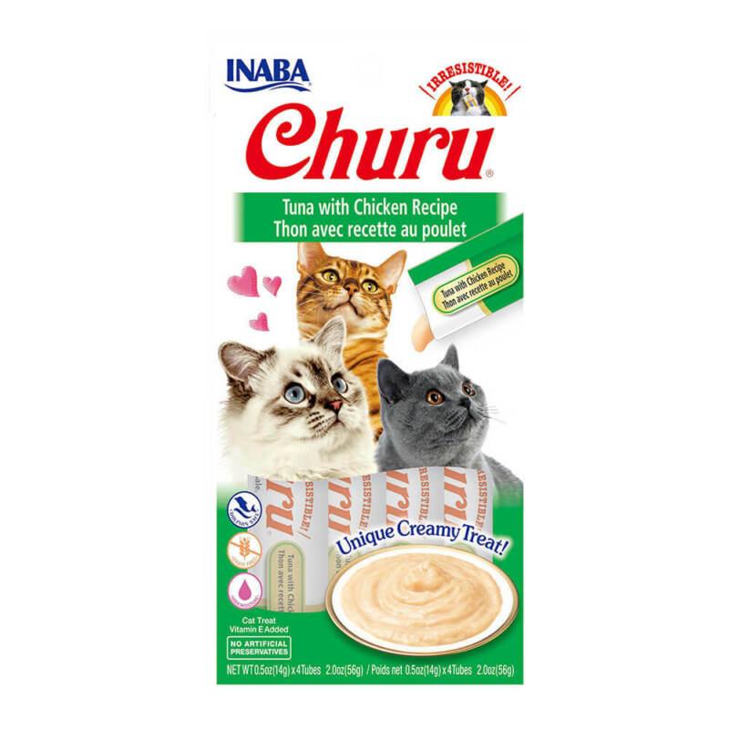 Inaba Churu, Creamy Tuna & Chicken Cat Treat, w/ Vitamin E