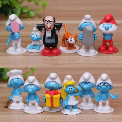 The Smurfs The Lost Village Papa Cat Gargamel 12 PCS Action Figure Cute Doll Toy