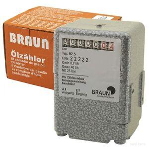 Ölzähler BRAUN HZ5 Ölverbrauch Oeluhr Ölmesser Heizöl Heizung Verbrauch