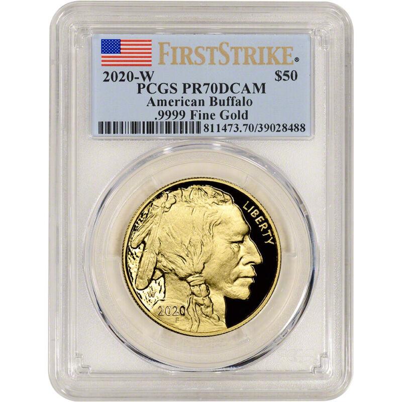 2020-W American Gold Buffalo Proof 1 oz $50 PCGS PR70 DCAM First Strike