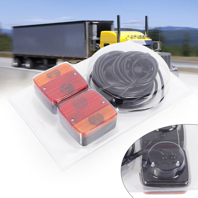 Trailer Wiring Harness Kit for Trailer Tail Lights Including 2 Brake/Tail Lights
