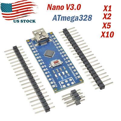 Nano V3.0 Atmega328 5v 16mhz Micro-controller Ch340g Driver Mini Usb For Arduino