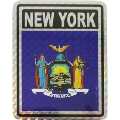 State Flag Bumper Sticker - State of New York Flag Reflective Decal Bumper Sticker