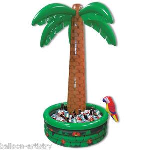 6ft Tropical Luau Hawaiian Garden Party Palm Tree Inflatable Drinks Cooler BA