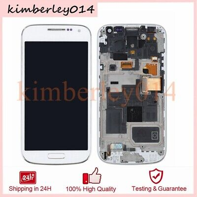LCD Display Für Samsung Galaxy S4 Mini i9195 Touchscreen Rahmen Weiß Komplett (Display S4 Mini)
