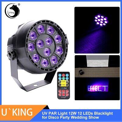 UV Schwarzlicht DJ 12W 12 LED Disco Party DMX Licht Effekt Bühnenbeleuchtung DE